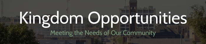 kingdom opportunities - meeting the needs of our community