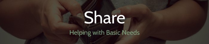 share - helping with basic needs
