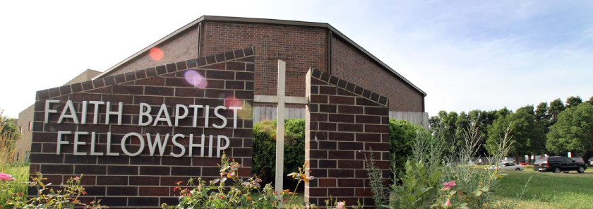 Faith Baptist sign and building